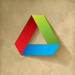 RGB Dreieckt Origami Vintage