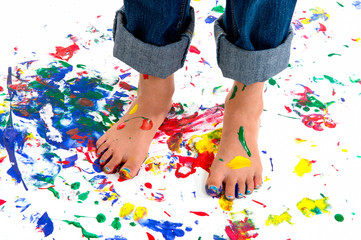 Paint Splash Feet