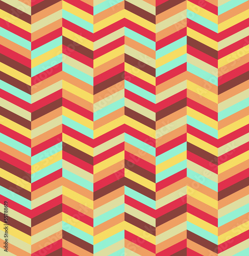 Foto op Plexiglas ZigZag Abstract colorful seamless pattern background. EPS10 file.