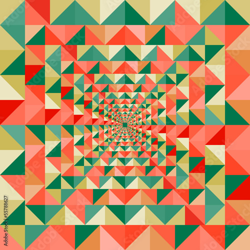 Foto op Plexiglas ZigZag Colorful visual effect seamless pattern background. EPS10 file.