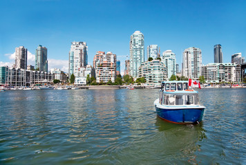 Commuter Passenger Ferry in False Creek, Vancouver, British Colu