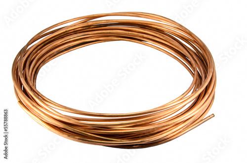 Leinwandbild Motiv Copper Tubing isolate on white background