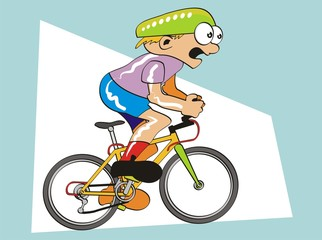 Competing cyclist