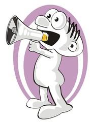 Man shouting your news