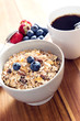 Breakfast bowl of muesli with fresh berries