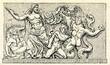 Leinwanddruck Bild - Gigantomachy (detail of Pergamon Altar)