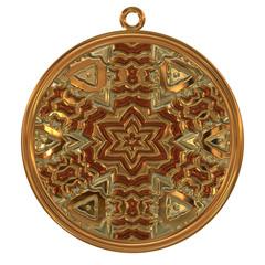Gold blank medal