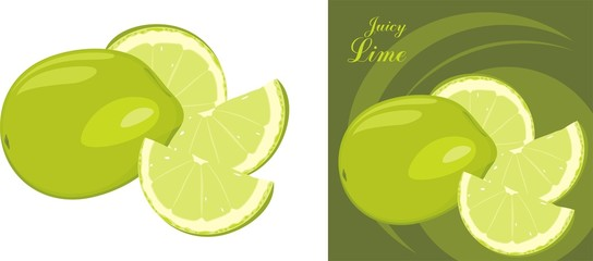 Juice lime. Icon for design