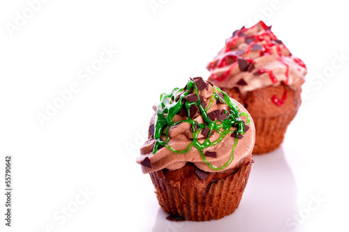 cupcake with buttercream icing and sprincles