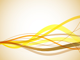Horizontal yellow wavy stripes background.