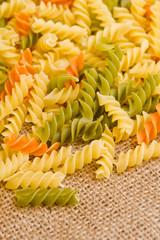 Rotini or spiral pasta