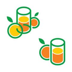 Juice drink fruit vegetable nature glass design symbol