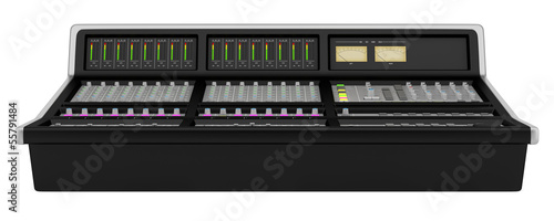 studio sound mixer isolated on white background
