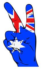 Peace sign with Australian flag