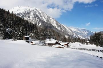 Winter landscape in the Hohe Tauern, Austrian Alps