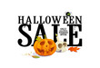 Halloween sale offer design template.