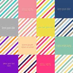 Abstract flat design background