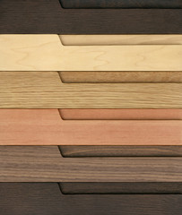 Furniture wood samples