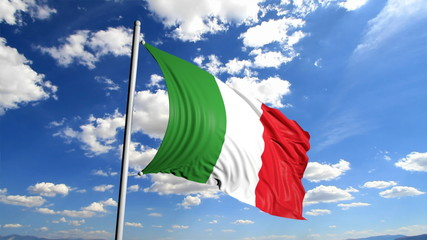 Italian flag waving
