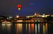 The night view of the beautiful Prague City