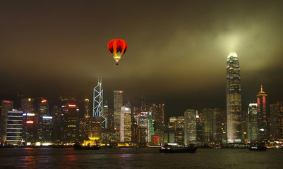 The Hong Kong City Skyline