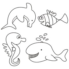 marine life - coloring