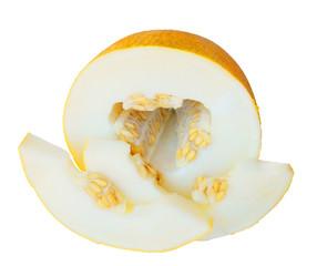 Melon on white