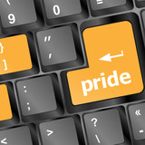 pride button on computer keyboard pc key