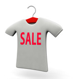 T-shirt for sale promotion concept illustration