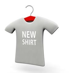 New arrival t-shirt concept illustration