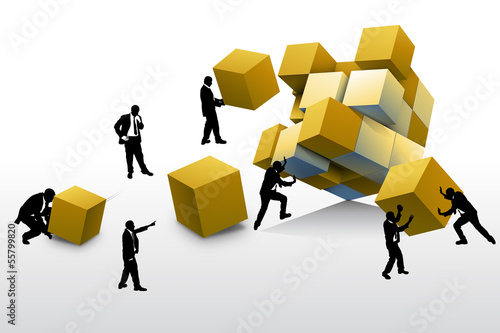 Teamwork and leadership concepts 3d illustration