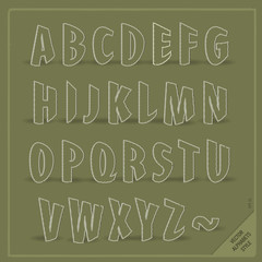Fun vector alphabets. Use for design.