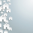White Paper Houses Side Background