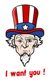 I want you - 4th of July Vector Illustration