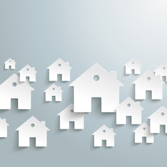 White Paper Houses Background
