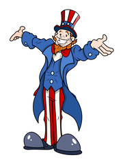 Uncle Sam - 4th of July Vector Illustration