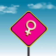 female-traffic sign