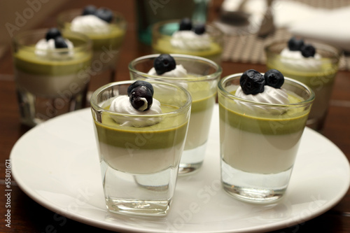 Green tea mousse