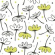 kwiaty kropki bałagan na białym tle roślinny deseń
