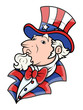 Fat Uncle Sam - 4th of July Vector Illustration