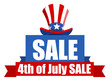 4th of July Sale banner - 55802416