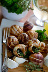 Escargots de Bourgogne (snails with herbs butter)