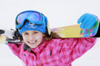 Skiing, skier, winter  - portrait of happy young skier