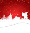 Weihnachtsmann schmückt Baum