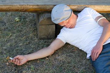 Man faintedafter taking an overdose