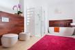 Colorful modern batroom