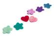 Band aus Herzen und Blüten