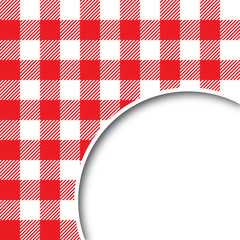 Retro tablecloth texture speech bubble