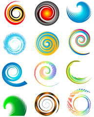 set of colorful circles, abstract design elements