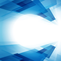perspective bleue-lumière centrale